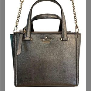 Kate Spade NWT Mini Kona Patterson Drive Pewter